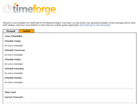 View the TimeForge Facebook information