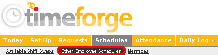 Get to the Other Employee Schedules Page on the Schedules Tab