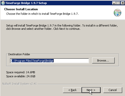 Choose a Folder to Install the Software