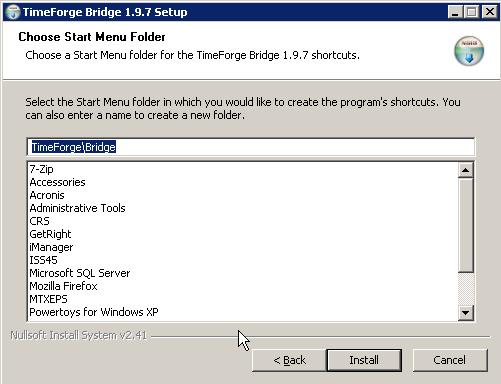 Pick a Start Menu Folder