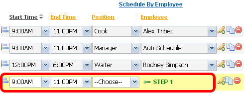 Adding and editing shifts is easy.