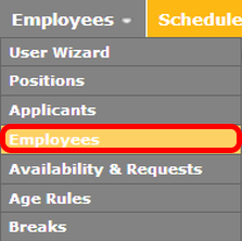"""Get to the """"Employees"""" page."""