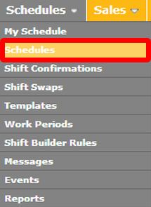 "Navigate to the ""Schedules"" page."