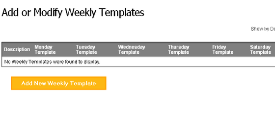 Create a Weekly Staffing Template