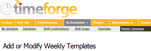 Go to Weekly Templates