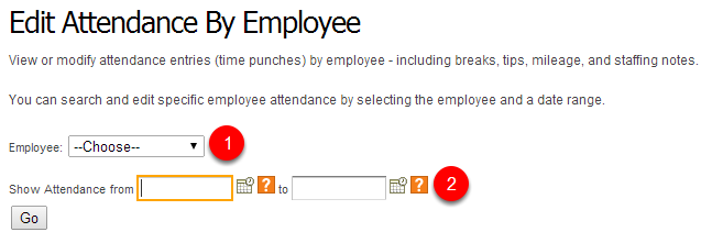 Select the employee and date.