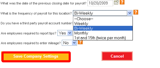Save the Pay Periods