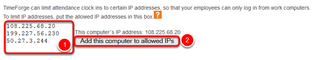 Add your IP address to the list of allowed IP addresses.