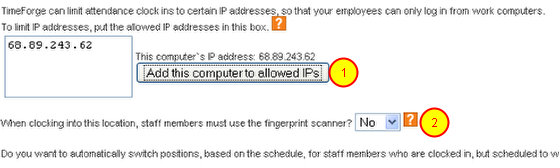 Require that Staff Members Use the Fingerprint Scanner
