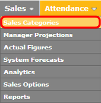 "Go to the ""Sales Categories"" page."