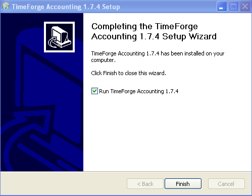 Finish the TimeForge Accounting Set up