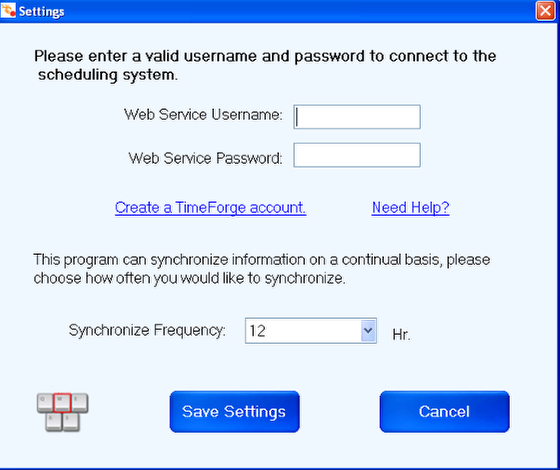 Configure the TimeForge Accounting Bridge
