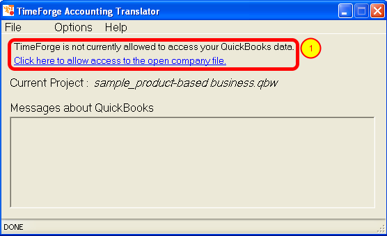 View the QuickBooks Translator Dashboard