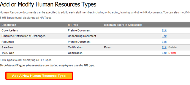 "Click ""Add A New Human Resource Type""."