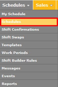 Create a Schedule.