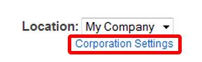 Corporation Settings