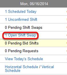 "View open ""shift swaps""."