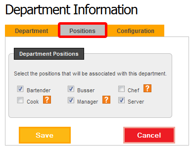 "Click the ""Positions"" tab."