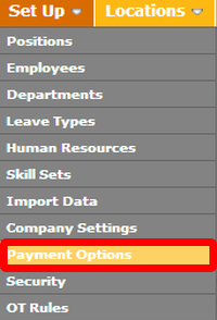"Go to the ""Payment Options"" page."