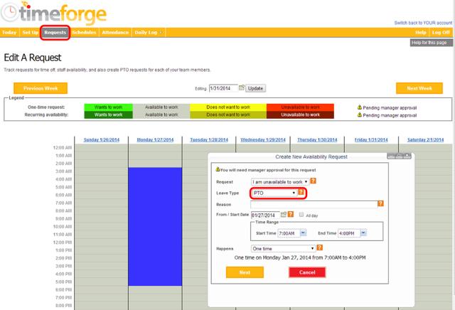Employee Request Portal