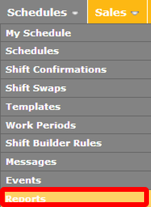 "Go to the ""Reports"" page in the Schedules tab."