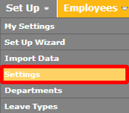 """Go to the """"Settings"""" page."""