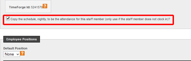 Check to see if attendance is set to show up for Salaried Employees.