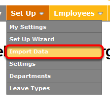 "Go to ""Import Data""."
