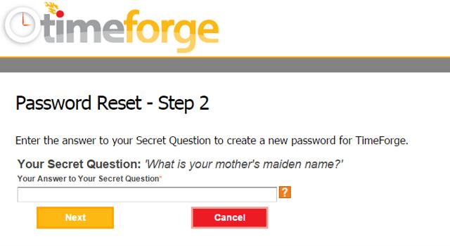 Answer your secret question