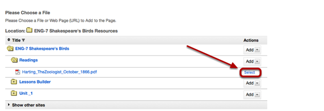 Locate the file, then click Select.
