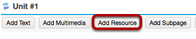 To link to an existing file in Resources, click Add Resource.