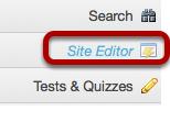 Method #1: Click Site Editor.