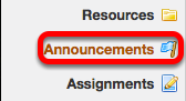 Go to Announcements.