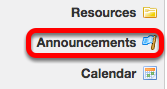 Go to Announcements on the site you want to merge Announcements TO.