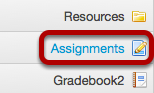 Go to the Assignment tool.