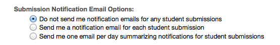 Submission notification (Optional).
