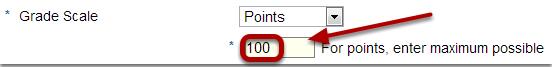 Enter maximum points.