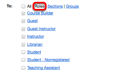Choice 2: Click Roles.