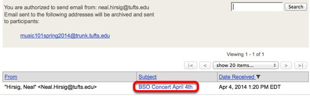 Click on an email subject.
