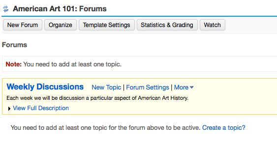 Example of the new forum: