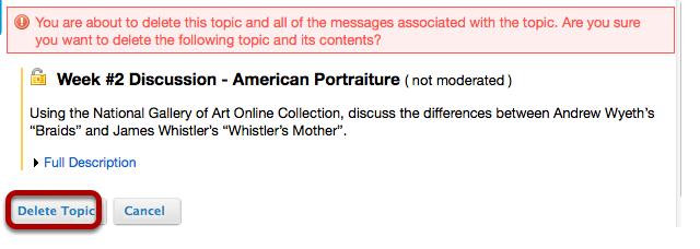 Click Delete Topic.