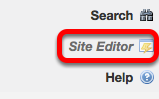 Go to Site Editor.