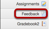 To access this tool, select Feedback from the Tool Menu in your site.
