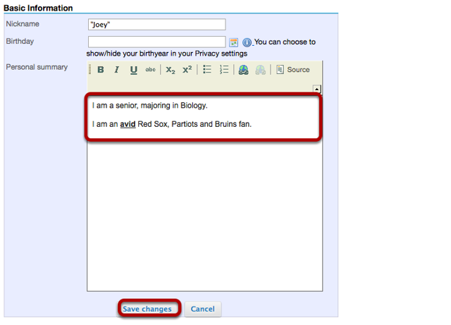 Edit Basic Information (Optional).