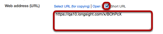 An alternative is to select Short URL and copy a shortened version of the URL.