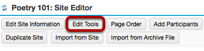 Click Edit Tools.