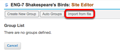 Method 3: (Import CSV file) - Click Import from file.