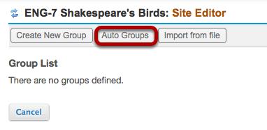 Method 2: (Auto Groups) - Click Auto Groups.