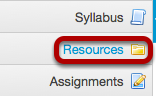 On your Trunk site, click Resources.