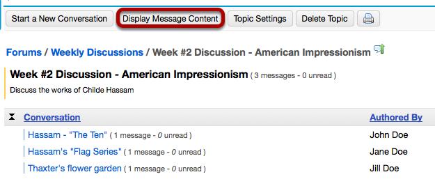 Click Display Message Content.